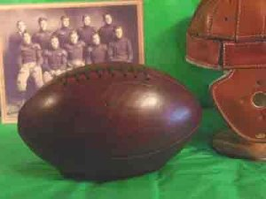 Antique Watermelon Football from Past Time Sports
