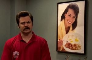Ron's Bacon and Eggs (and Brunette) Poster